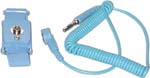 "AML-301A Cordless ""+"" adjustable wrist strap, blue, 4mm snap, coil cord 6ft"